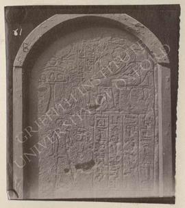 Stela of Kertekh and his wife Sit-tekh, 1st half of Dyn. XVIII, provenance not known, now in Bolo...