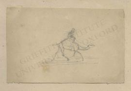 Figure riding a camel
