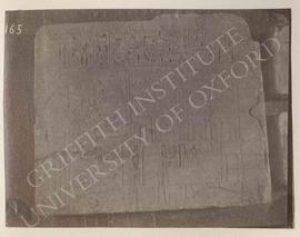 Relief showing a poultry-yard and a store-house with a text above, late Dyn. XVIII or Ramesside, ...