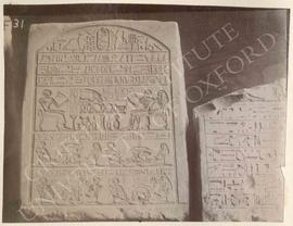 [Left] Stela of Senbi, temp. Amenemhet III, provenance not known, now in Florence, Museo Archeolo...