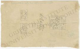 Miniature sketches of hieroglyphic inscriptions, perhaps from seals, not identified