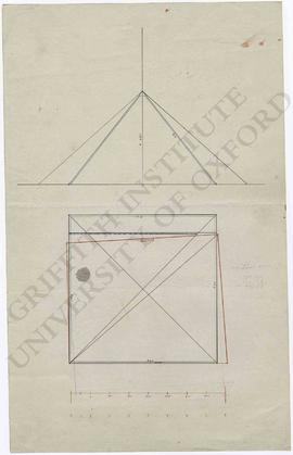 Diagrams and measurements of the Great Pyramid at Giza