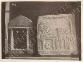 [Left] Stela of Rensoneb and his wife Senedjetenmenat, Middle Kingdom, from Naqada, now in Floren...
