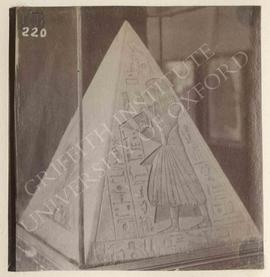 Pyramidion of Ramosi (Theban Tomb 7), New Kingdom, from Deir el-Medina, now in Turin, Museo Egizi...