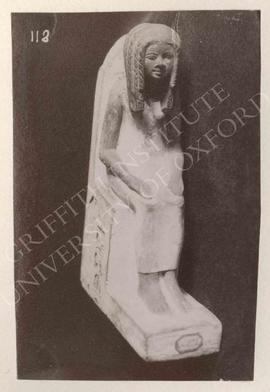 Seated statue of Nebiner (woman), early Dyn. XVIII, provenance not known, now in Turin, Museo Egi...