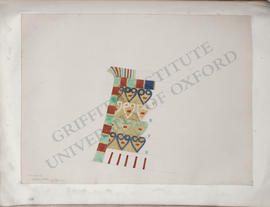 Thebes, unidentified private tomb, decorative pattern from a boat-cabin