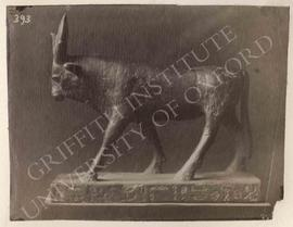 Statuette of the Apis-bull, bronze, not identified, now in Florence, Museo Archeologico