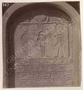 Stela of Esnabekh with a text mentioning Apries, perhaps temp. Apries, provenance not known, now ...