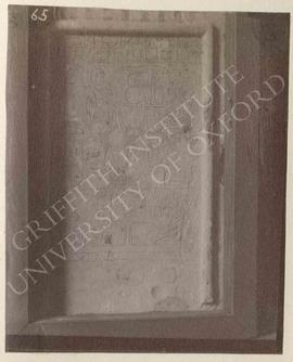 Stela of Amennakht, Dyn XII, provenance not known, now in Bologna, Museo Civico Archeologico, 1904