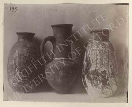 [Left] Painted vase of Neferamun, pottery, provenance not known, now in Florence, Museo Archeolog...