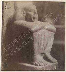 Squatting statue of Merneptah, probably Dyn. XXV, probably from Memphite area, now in Turin, Muse...