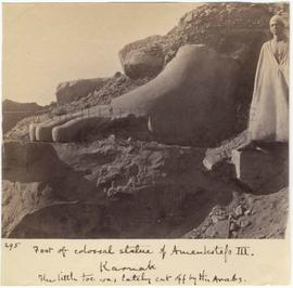 [295] Foot of colossal statue of Amenhotep III.
