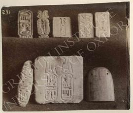 Plaques, seals, stamps, etc. with cartouches, not identified, now in Turin, Museo Egizio