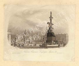 England. London. Trafalgar Square. Nelson's Column.