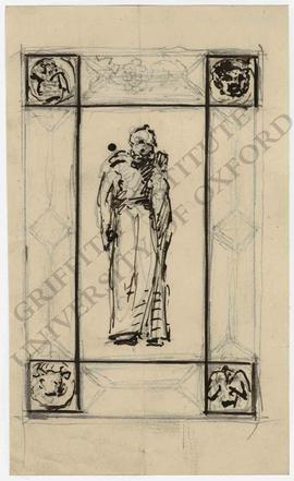 Figure in ornamental frame
