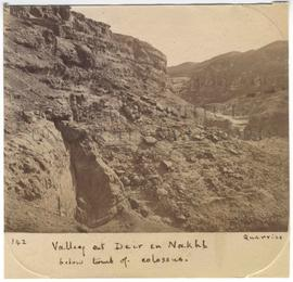 [142] Valley at Deir en Nakhl below tomb of colossus.