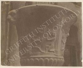Vase with reliefs showing seated Isis under a tree, black basalt, Roman, provenance not known, no...