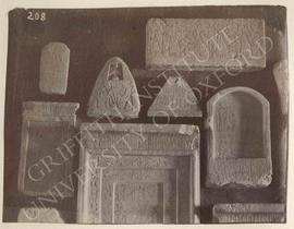 [Upper left] Small stela of Bekamun, mid-Dyn. XVIII, provenance not known, now in Florence, Museo...