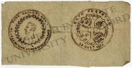 Design for Tyne Sailors' Home medal (obverse and reverse)