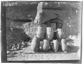 [20.B] Two-handled ovoid/cylindrical large storage jars from XIIth dynasty cemetery east of town,...