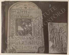 [Left] Stela of Ibi, late Dyn. XII to XIII, provenance not known, now in Florence, Museo Archeolo...