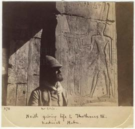 [276] Neith giving life to Thothmes III. Medinet. Habu.