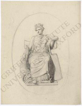 Enthroned Cybele with cornucopia