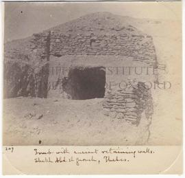 [207] Tomb with ancient retaining walls. Shekh Abd el Gurneh, Thebes.