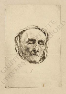 Portrait (frontal view) of Sir Long Thomas Roberts, based on a death mask made by Joseph Nolleken...