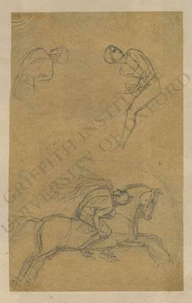 Sketches of male figure on horseback
