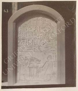 Stela of Bebi, Dyn. XIII, provenance not known, now in Bologna, Museo Civico Archeologico, 1927
