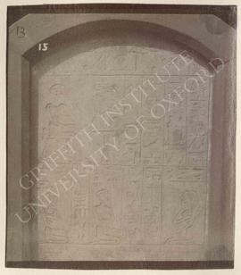 Stela of Mentuhotep Ressoneb, late Dyn. XII or Dyn. XIII, provenance not known, now in Bologna, M...