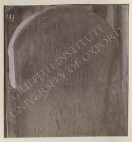 Stela of Djehutnufer, temp. Tuthmosis I, provenance not known, now in Turin, Museo Egizio, Cat. 1456