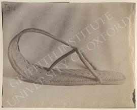 Sandal, not identified, now in Turin, Museo Egizio