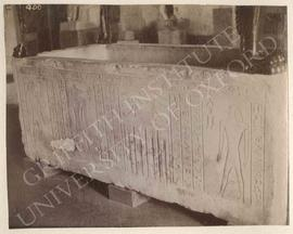 Sarcophagus, temp. Psammetikhos I, from Saqqara, Tomb LS 24, Bekenrenef, main shaft, now in Flore...