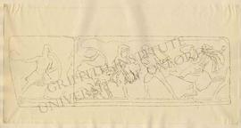 Marble slabs of the Amazon frieze from the Mausoleum of Halicarnassus (London, British Museum, re...
