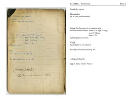 Notebook containing notes on work in Theban tombs, financed by Sir Robert Mond, 1909-1910