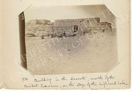 [936] Building in the desert, north of the Birket Karun