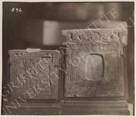 [Left] Pectoral, verso, provenance not known, now in Bologna, Museo Civico Archeologico, 2034; [r...