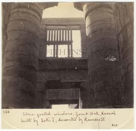 [186] Stone grated window, Great Hall, Karnak