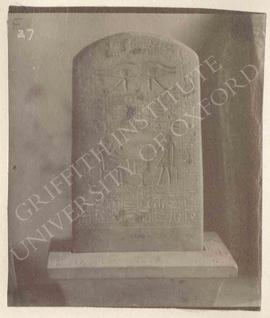 Stela of Senbef (recto) with pedestal, late Dyn. XII or Dyn XIII, provenance not known, now in Fl...
