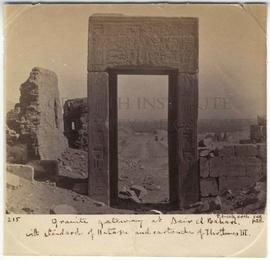[215] Granite gateway at Deir el Bahari.