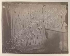 Lintel of the deceased, early Dyn. XVIII, from Thebes, Tomb A.10, Djehutnufer, now in Florence, M...