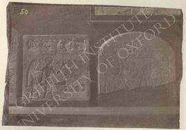 [Left] Stela of Sebekaa-hotep, sandstone, 1st Int. Period, provenance not known, now in Florence,...