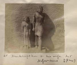 45 - Nenkheftka + his wife. No 5 - Nefersems [published as Neferseshems] - [F35-s-T31-s]
