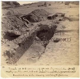 [51] Trench at N.E. corner of Great Pyramid