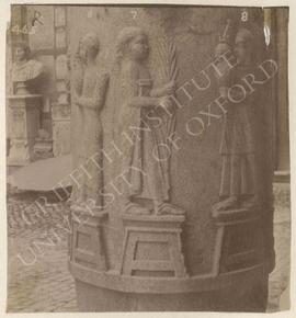 Columns with offering-bringers in high relief, Graeco-Roman, provenance not known, now in Rome, M...