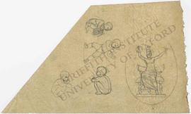 Four designs of children (crouching and fighting) and design of Britannia breaking her bonds