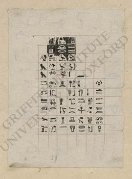 Proof print of hieroglyphic typography
