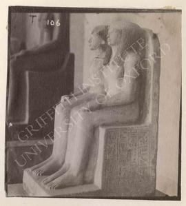 Double-statue of Panehesi and his wife Ternute, temp. Ramesses II, provenance not known, now in T...